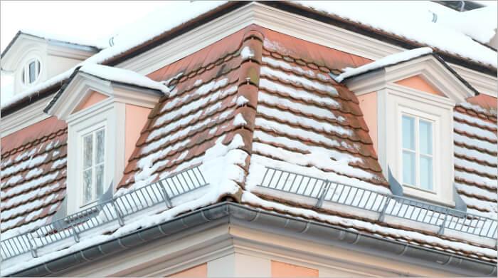 """Schneefanggitter aus Aluminium """"in Aktion"""""""