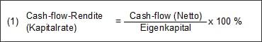 Folgende Kennzahlen sind in Verbindung mit dem Cash-flow von Bedeutung