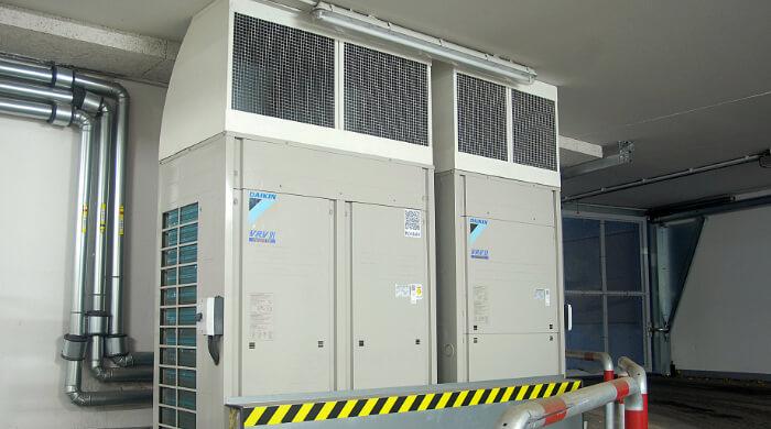 Klimaanlage in einem Bürogebäude