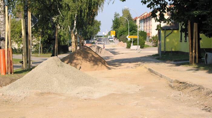 Baustelle-Straßenbau