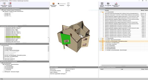 Bild: BIM-LV-Import mit der Software nextbau