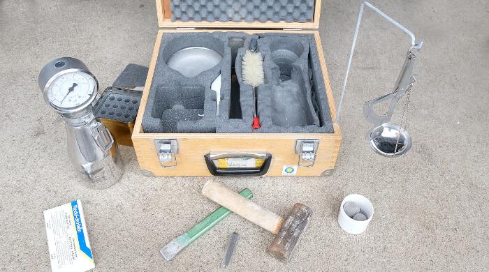 CM-Messgerät - alles zur Messung vorbereitet