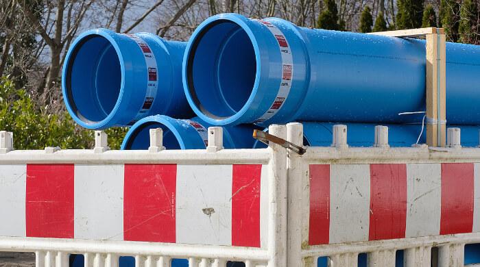 PP-Rohr mit Steckmuffe für den Bau von Kanälen im Trennsystem