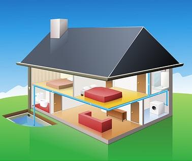 Darstellung einer Regenwassernutzungsanlage