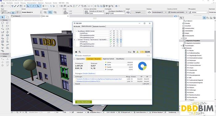 Objekte bemustern (Beispiel: Fenster) mit DBD-BIM in ARCHICAD