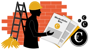 Mindestlohn 1 im Baugewerbe- Bauprofessor-Begriffserläuterung -