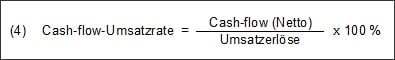 In welche Maße die Umsatzerlöse zur Erwirtschaftung der Innenfinanzierung beitragen können, sagt folgende Kennzahl aus: