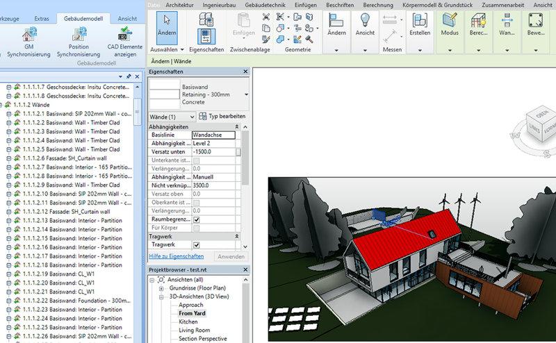 Screenshot: Innovatives Modul G-BIM in der AVA-Software SIDOUN Globe®