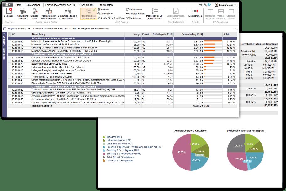 ABC-Analyse und Auswertungen in nextbau