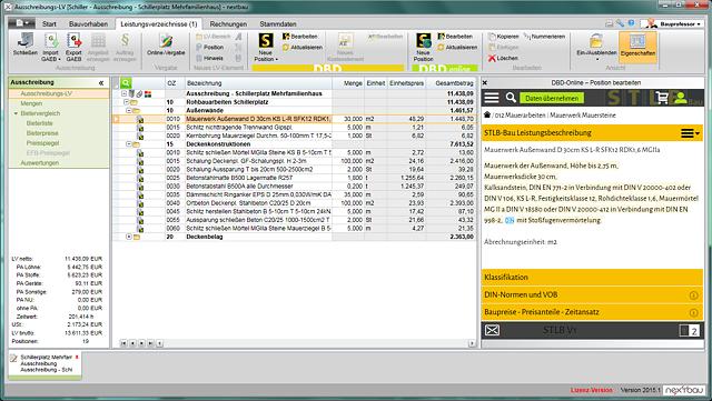 Integration von STLB-Bau Online am Beispiel der Software nextbau