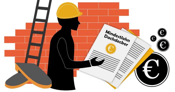 Mindestlohn im Dachdeckerhandwerk