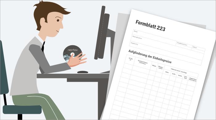 Aufgliederung der Einheitspreise (EFB 223)- Bauprofessor-Begriffserläuterung -