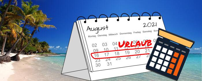Berechnung der Urlaubsdauer