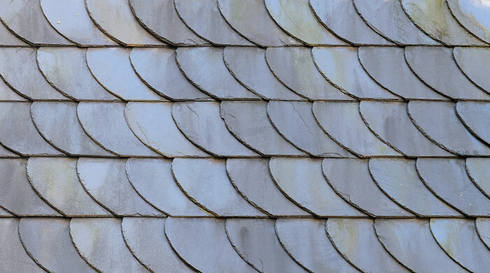 Fassadenverkleidung aus Schiefer