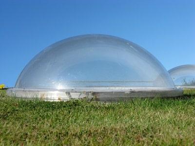 Lichtkuppel, kuppelförmig
