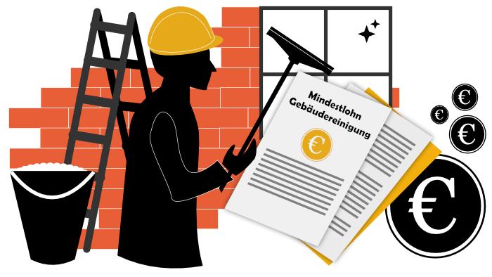 Mindestlohn im Gebäudereinigerhandwerk