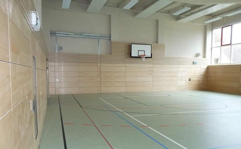 Sporthalle Hirschfelde Innenansicht - Umbau geplant von Rüdiger Karl