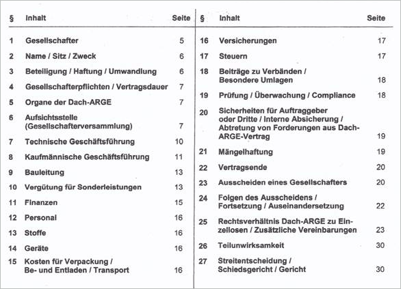 Dach-ARGE-Vertrag