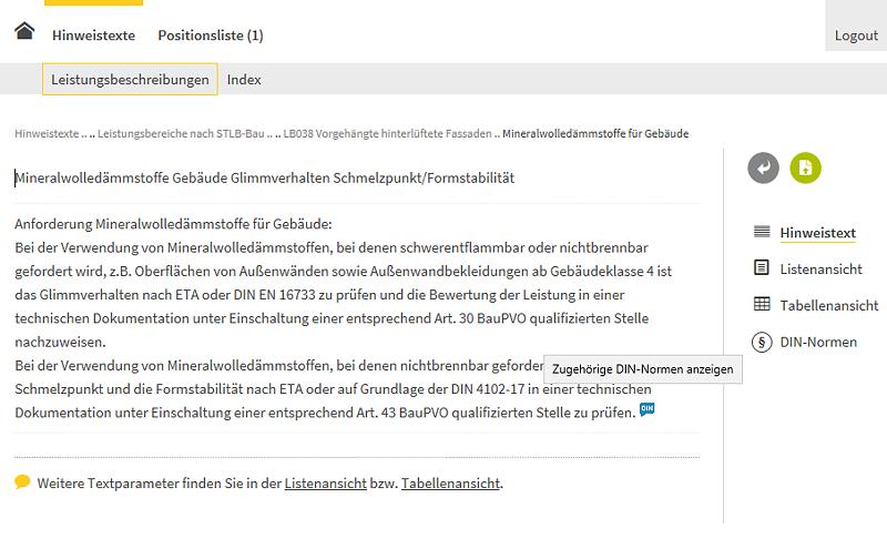 Bildschirmfoto Onlinedienst - www.sichere-bauprodukte.de -