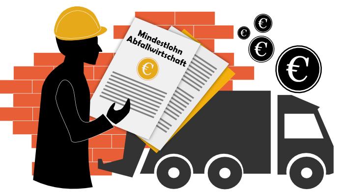 Mindestlohn für die Abfallwirtschaft