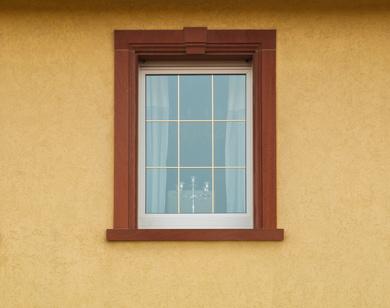Einfachfenster mit Messingsprossen