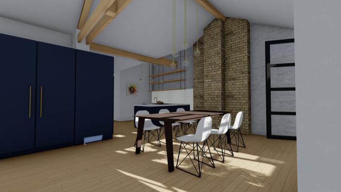 Dachgeschossausbau nach Planung von Winfried Landwehr